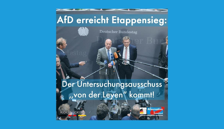 ++ AfD setzt sich mit Forderungen nach Untersuchungsausschuss durch ++