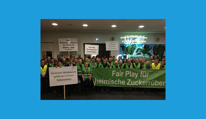 Protestveranstaltung der Rheinischen Rübenbauer