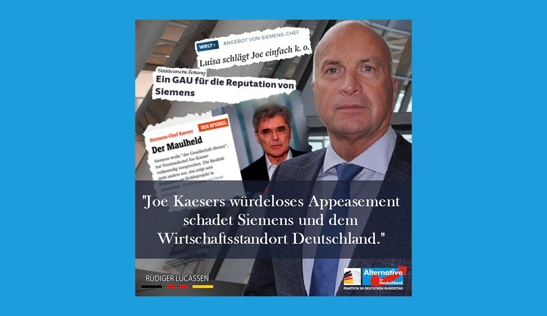 Joe Kaesers würdeloses Appeasement