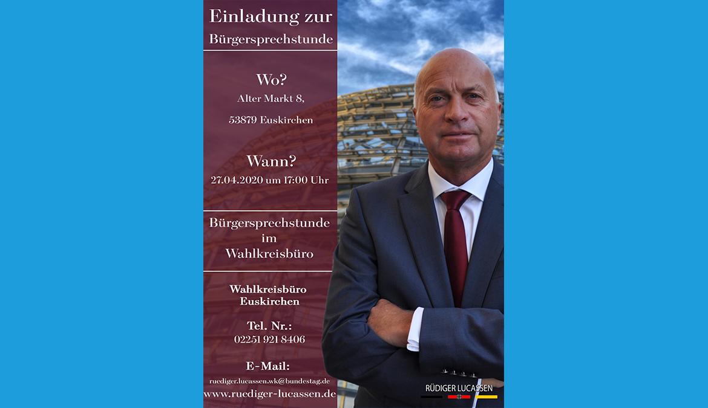 +++ Bürgersprechstunde 27.04.2020 +++