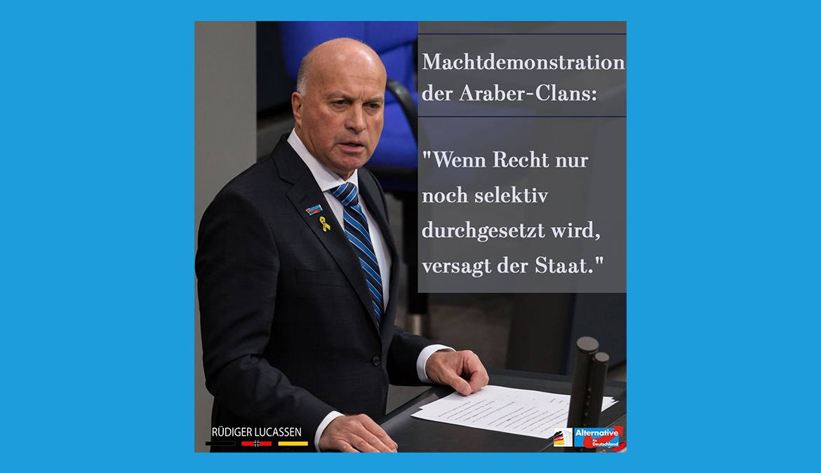 +++ Machtdemonstration der Araber-Clans +++