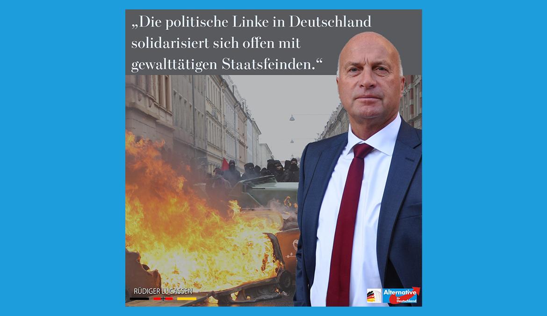 +++ Die politische Linke in Deutschland solidarisiert sich offen mit gewalttätigen Staatsfeinden. +++