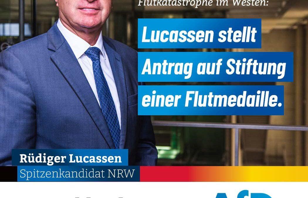 PM: Lucassen für Stiftung einer Flutmedaille